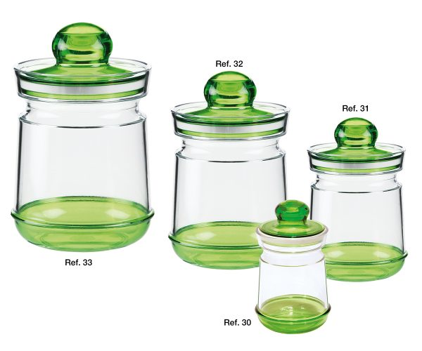 Barocco round canisters