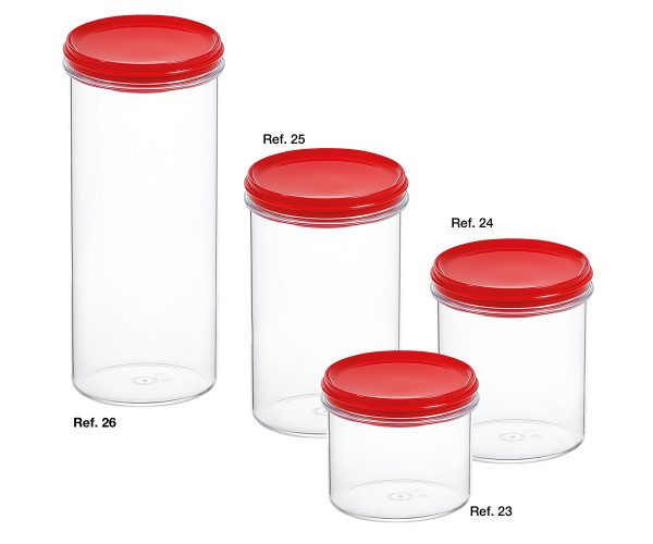 All-purpose decorated round canisters