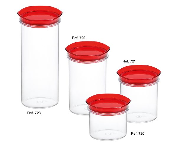 Salvagusto round canisters