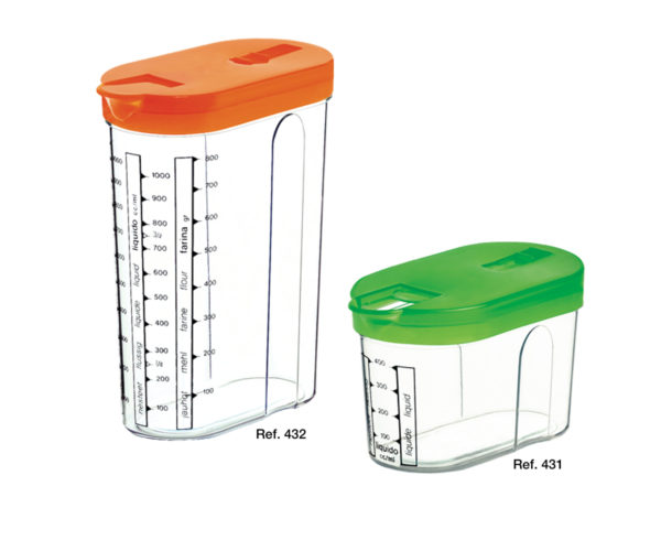 Graduated measuring canisters
