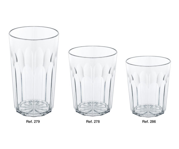Oasi ribbed glasses