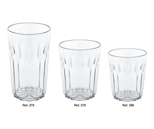 Bicchieri costolati Oasi