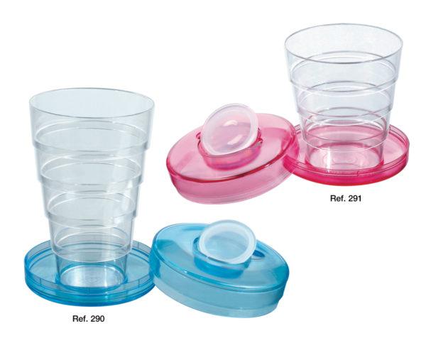 Bicchieri tascabili con portapillole