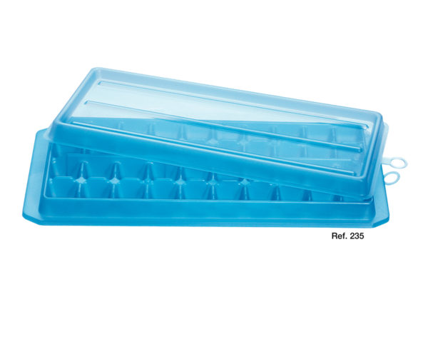 Ice cubes maker with lid